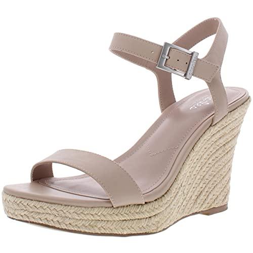 CHARLES BY CHARLES DAVID womens Wedge Sandal Platform, Nude, 7.5 US