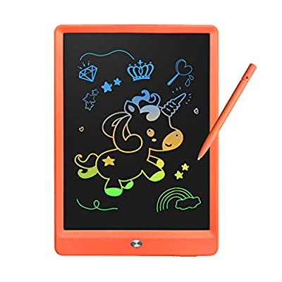 Derabika Learning Toys for 3 4 5 6 7 Girls Boys Gifts, 10 Inch Colorful LCD Writing Tablet Drawing Board, Electronic Doodle Board for Kids Christmas Birthday Present for Girls Boys Age 3-7 (Orange)