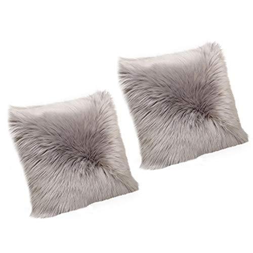 Kecream - Fundas de cojín cuadradas para sofá, silla, dormitorio, sala de estar, coche, fundas de almohada decorativas (sin relleno), A3, 40*40cm