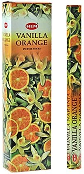 Vanilla Orange Hem Jumbo 16 Inch Incense Sticks 10 Stick Hexagon Box Set Of 6