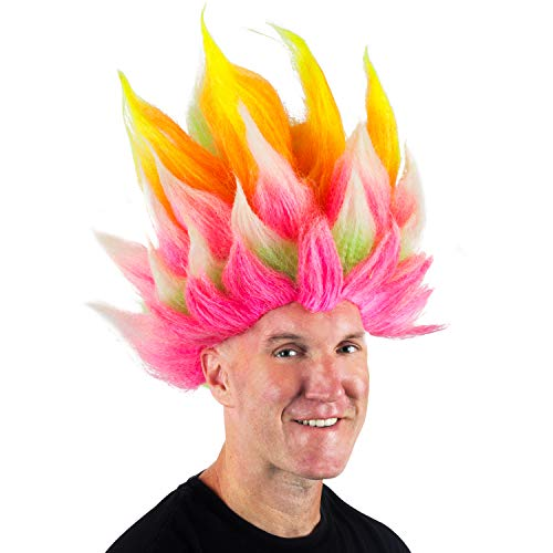 Funny Party Hats Rainbow Troll Wig …