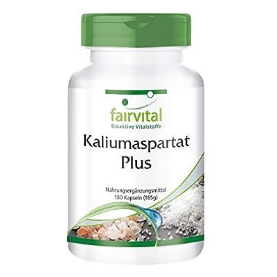 Fairvital - Potassium Aspartate - Potassium Niacin Vitamin B6 - 180 Vegetarian Capsules from fairvital