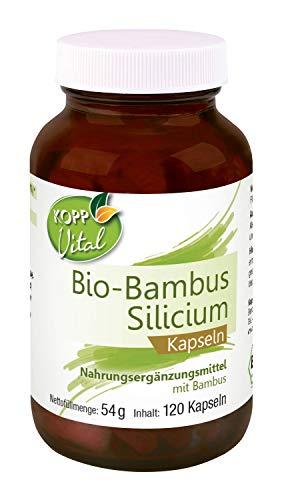 Kopp Vital Bio-Bambus Silizium Kapseln | Bio-Qualität | 120 Kapseln | 54 g | Vegan und ohne Zusätze | Premium Silicium | Premium Rohstoffe