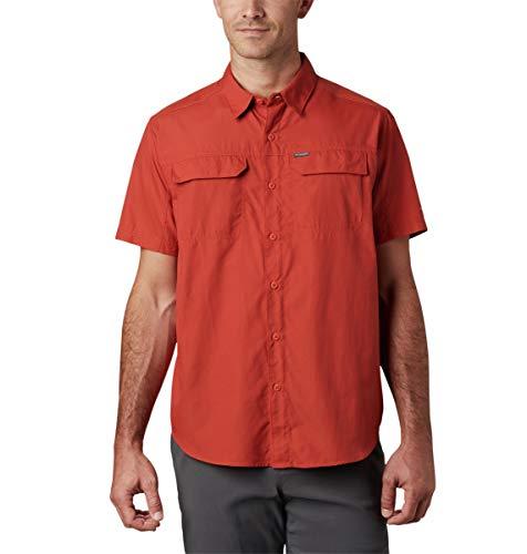Columbia Silver Ridge 2.0 T-Shirt à Manches Courtes pour Homme Protection UV Sun Protection Silver RidgeTM 2.0, Homme, 1838881, Cornaline Rouge, L