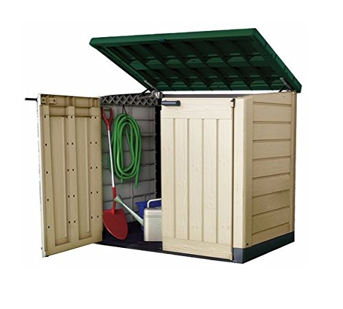 Keter Plastic Storage Unit Box Garden Shed Outdoor Sheds For Wheelie Bins Tools Bikes Lawn Mowers Patio Shade Protect your Garden Equipment New And Improved Design Very Solid Construction