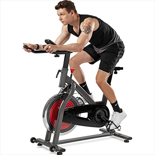 Mapeieet Bicicletas estacionarias, bicicleta de ejercicio, con monitor LCD, silenciosa correa conducida, bicicleta de ciclismo interior para entrenamiento en casa entrenamiento cardiovascular