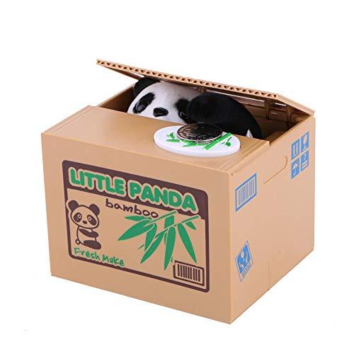 Zerone Kreative Spardose Katze Spardose Elektrische Spardose Spielzeug Kinder Automatik Ruba Münzen (Batterien nicht im Lieferumfang enthalten) (Little Panda)