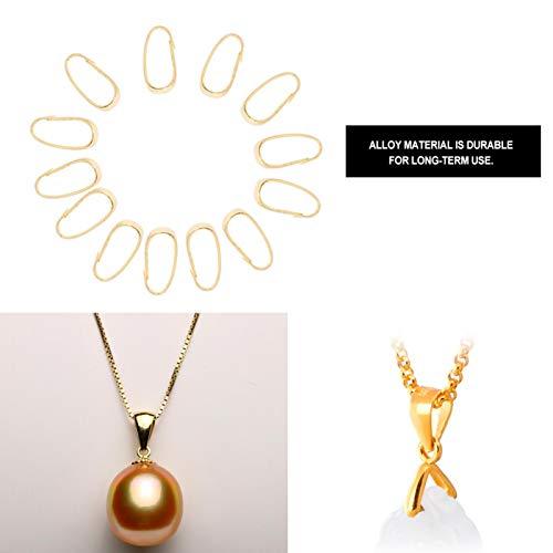 Pinch Bail, Snap Bail 3 colores para collar para joyería(gold)