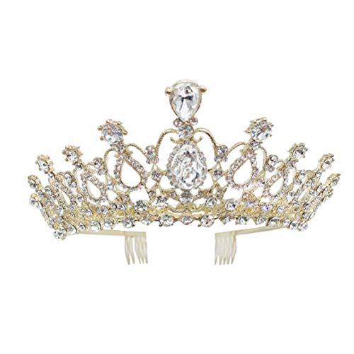 Alliage strass couronne mariage coiffure femmes cheveux cerceau de mariée cheveux décor perle accessoire de cheveux