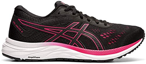 ASICS Women's Gel-Excite 6 Running Shoes, 8M, Black/Rose Petal