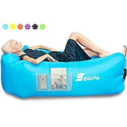 powerful SEGOAL Inflatable Lounger Inflatable Sofa Beach Bed Camp Chair Hammock Cushioned Portable…