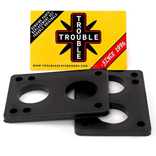 TROUBLE SKATEBOARDS Riser Pad Rubber Risers 6mm 1/4