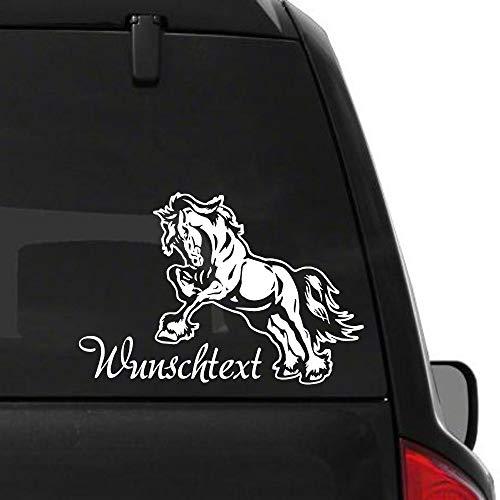 Pegatina Promotion Aufkleber Autoaufkleber Sticker Kräftiges Pferd Kaltblüter mit Wunschtext ca 30cm reiten Reitsport Pferdesport Pferdeliebe