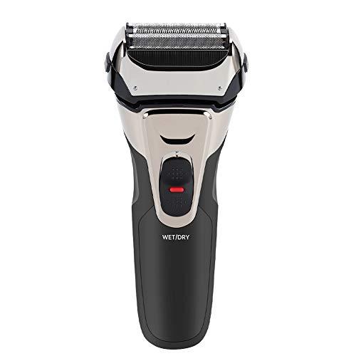 Afeitadora eléctrica para hombres, maquinilla de afeitar eléctrica recargable y recortadora de barba lavable sin cable para hombres en seco y húmedo (Strong Electric Shaver)