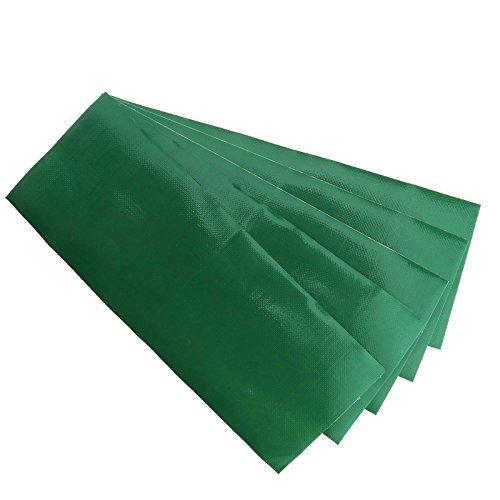 D2D Cinta Adhesiva de reparación de Tiendas de campaña, 5 Unidades, Impermeable, para reparación de túnel de Polietileno, 7,6 x 20 cm, Color Verde