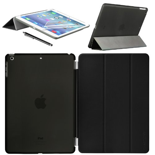 Swees® Apple iPad mini / iPad mini Retina / iPad mini 3 Bildschirm Smart Cover & TPU Back Hülle Cover Hülle Schutzhülle Etui Tasche, Unterstützt Sleep / Wake Funktion+ Bildschirmschutzfolie und Stylus (Eingabestift) - Schwarz