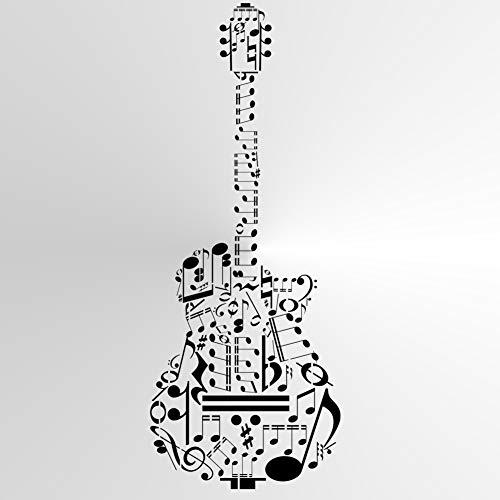 Wiederverwendbare Schablone für Gitarren, A3, A4, A5 und größere Größen, moderner Stil/Musik1 (PVC, wiederverwendbare Schablone, A5-Größe – 148 x 210 mm, 14,7 x 21,1 cm)