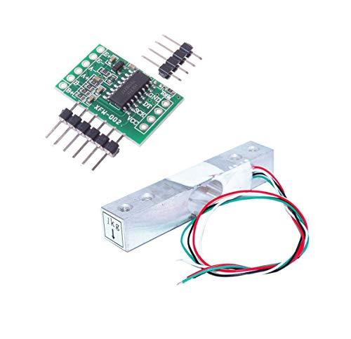 Aihasd Cella di carico Digitale Sensore di Peso 1KG Scala di Cucina Elettronica Portatile + HX711 Sensori di pesatura Modulo Ad per Arduino