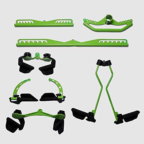 XYZLEO Trizepsstange 7pcs VföRmiges Design Trizeps TrainingsgeräT KrafttrainingsgeräTe Latzug Griffe Homeworkout Equipment Rudergriffe Herunterziehen FitnessgeräTe FüR Zuhause Muskelaufbau