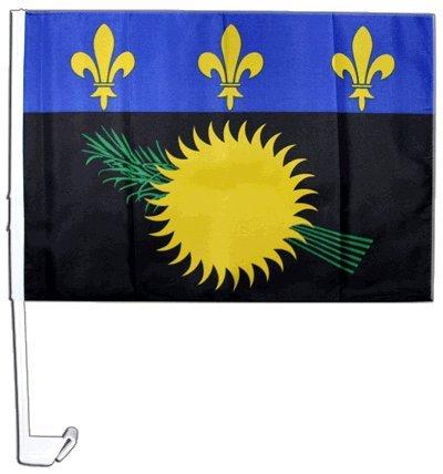 Drapeau de voiture France Guadeloupe - 30 x 40 cm