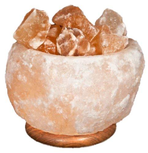 Lampada di sale dell'Himalaya a braciere grezzo