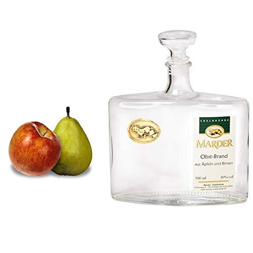 Marder Edelbrände:Obstler aus Apfel und Birne. Lebendig, frisches Duftbild mit ausgewogenem Apfel - Birne Verhältnis