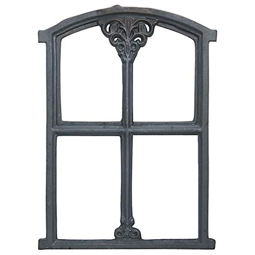 Stallfenster Fenster Klappe Scheunenfenster Eisenfenster grau 47cm Antik-Stil