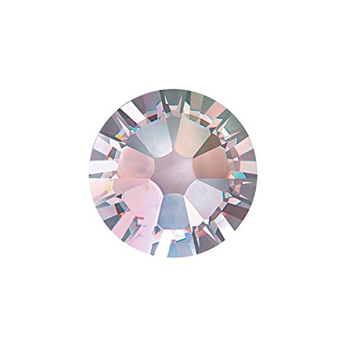 Pack of 100 Swarovski Flatback Glue Fix Rhinestone Gems SS16 and SS20 (SS20 (4.7mm), Crystal AB)