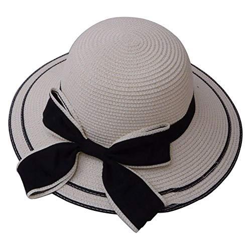Weimay. Arco Sombrero de Paja Sombrero de Pescador Lado Ancho Protección UV Sombrero de Playa Senderismo Deportes al Aire Libre Sombrero de Sol Mujer