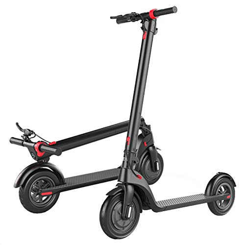 "elrofu E-Scooter ""S7"", 25 km/h, 350 Watt, 12,5 kg, herausnehmbarer 36 V/6Ah Lithium-Akku, Straßenzulassung: Österreich, Elektro Roller, Elektroroller, E-Roller, City-Scooter, Produktvideo, Schwarz"