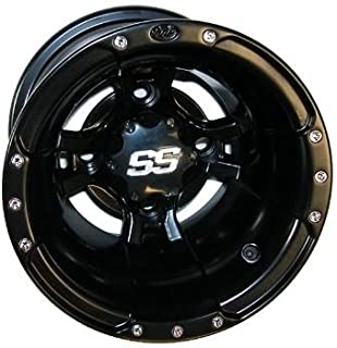 ITP SS112 Sport Wheel - 10x8 - 3+5 Offset - 4/110 - Black , Bolt Pattern: 4/110, Rim Offset: 3+5, Wheel Rim Size: 10x8, Color: Black, Position: Rear 10SB11BX