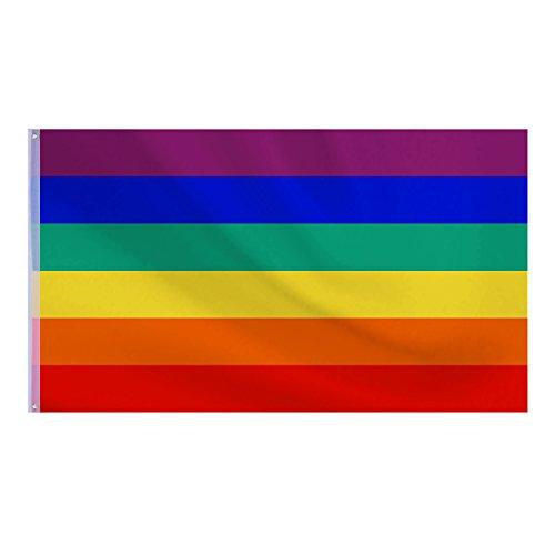Neue Homosexuell Stolz Regenbogenfahne Rainbow Flag Festival Karneval Banner, 5 x 3 ft/150 x 90 cm