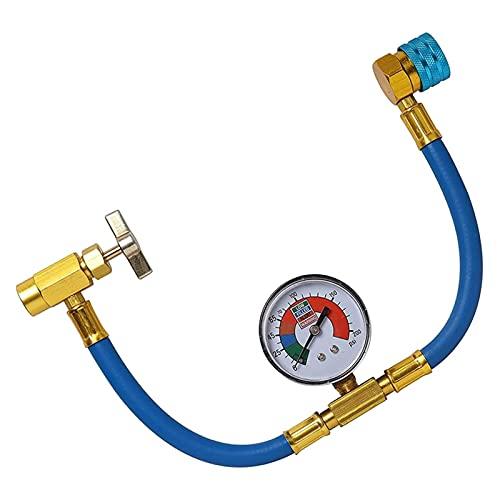 YUKE R1234YF. Kit per Tubi di Ricarica, R-1234YF Tubo e misuratore di Ricarica, R1234YF. Adattatore ad accoppiatore rapido a Basso Lato, 1/2 Acme LH. Apriscatole (Color : Blauw)