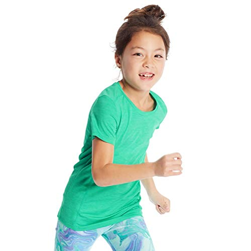 C9 Champion Girls' Supersoft Tech Tee, Spring Forward Green/Blue Mist, S