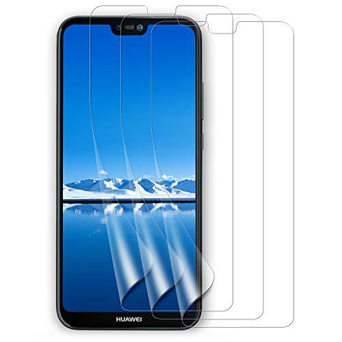Bigmeda Pellicola Protettiva Huawei P20 Lite, [3-Pezzi] Pellicola Morbida Huawei P20 Lite Proteggi Schermo Screen Protector Film per Huawei P20 Lite[Non-Vetro]