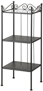 Ikea Shelf unit, black 16 1/2x40 1/2