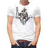 Camiseta Serie Manga y Anime Hombre - Unisex Sword Art Online, Sao (Blanco, S)