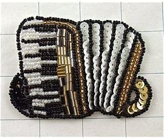 Jamali Garden Accordion with Black Gold White Max 55% OFF Sequins and Max 44% OFF Beads