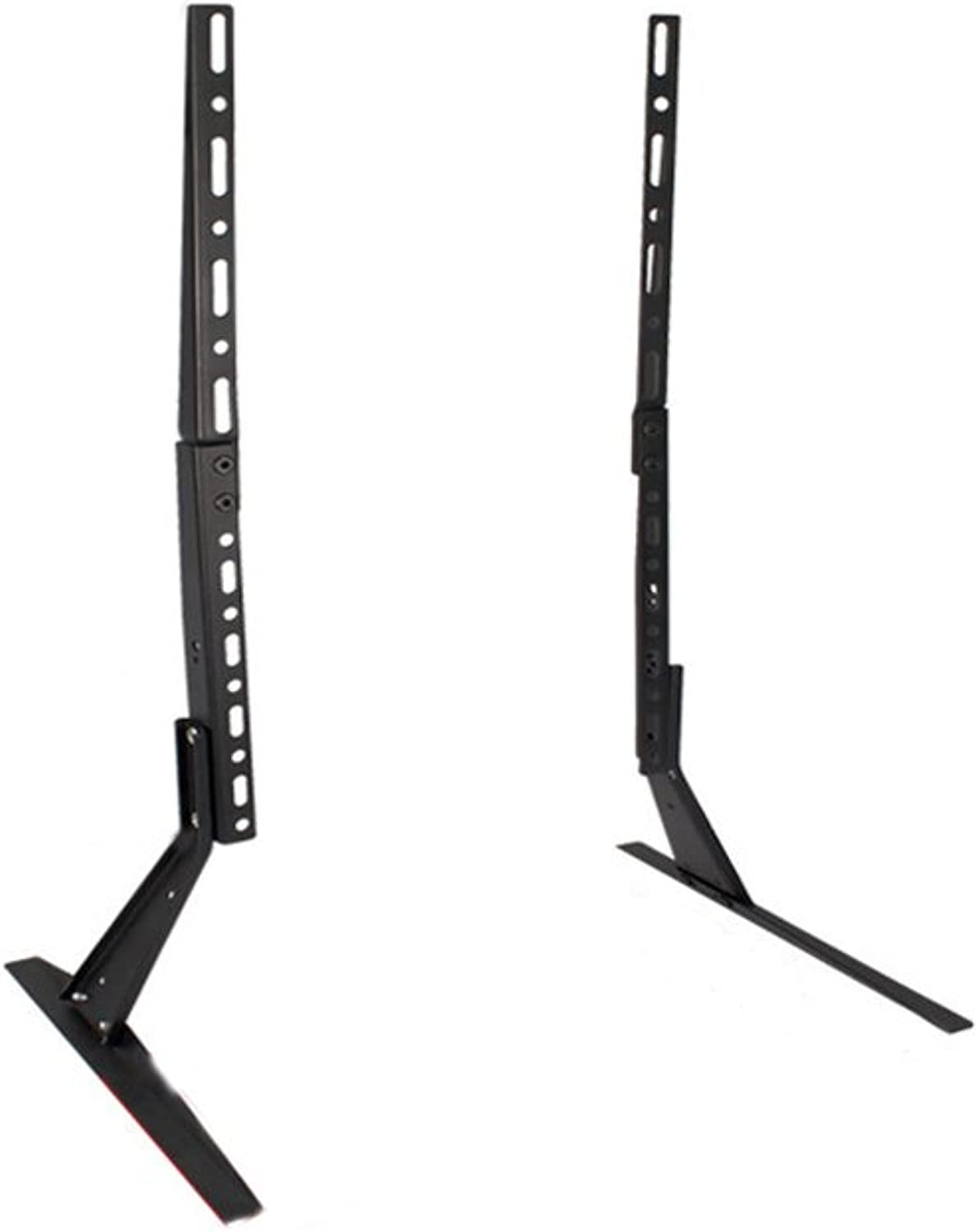 21-40-55 Inch TV Stand Desktop LCD Base Stand 27-65 Inches Black to Strengthen and Stabilize (color   Black, Size   55  2.5cm)