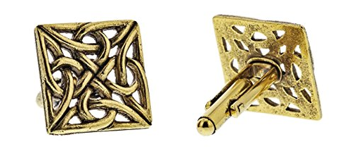 24K Gold Celtic Knot Cufflinks By Classic Cufflinks, Men's Fashion Cufflinks– Unique and Perfect Gift for All Occasions