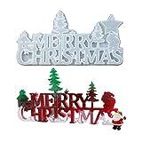 Stampi in resina di buon Natale Stampi per colata epossidica Silicoen Xmas Stampo Stella Albero di Natale Babbo Natale Stampo in silicone per creazione di gioielli per ornamento decorativo