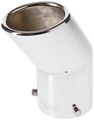 Akhan ER029 - Edelstahl Auspuffblende Endrohr zum anschrauben Ø 48-70 mm