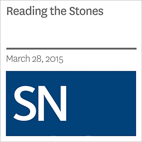 Reading the Stones audiobook cover art