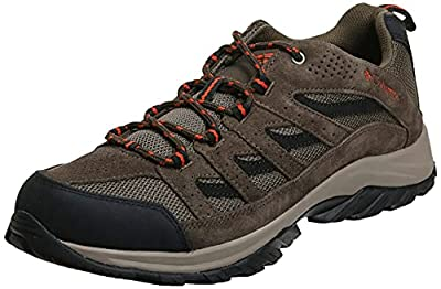 Columbia Men's Crestwood Wide Breathable, High-Traction Grip, Camo Brown, Heatwave, 7 D US