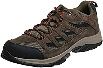 Columbia Men's Crestwood Hiking Shoe Breathable, High-Traction Grip, Camo Brown, Heatwave, 11