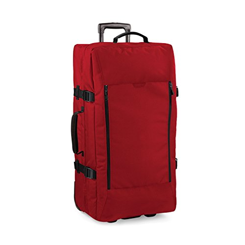 Bagbase Escape Dual-Layer Large Cabin Wheelie Travel Bag/Suitcase (95 Litres) (Pack of 2) (One Size) (Classic Red)