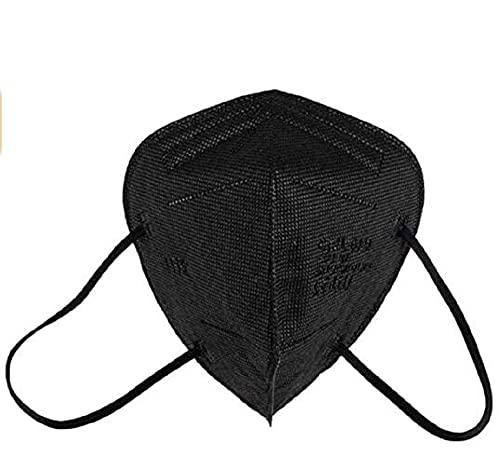 MASKEN24 STM 6020 Zertifizierte FFP2 Masken Faltbar - 20 Stück einzelverpackt im PE-Beutel - Staubmaske Atemmaske 5-lagige Mundmaske (Schwarz)