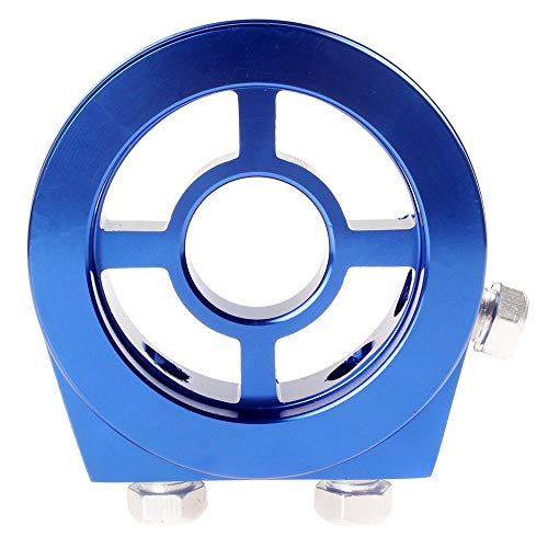 Universal Aluminium Öl / Manometer Filter Sandwichplatte 1/8 NPT Druck- / Temperatursensor (Blau)