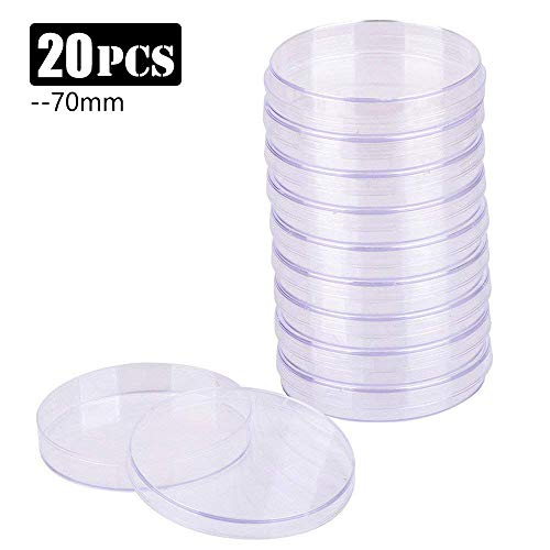 20 Piezas Placas de Petri, Placas Petri de Tejido Celular