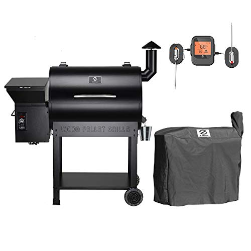 Z GRILLS ZPG-7002BPRO Wood Pellet Grill Smoker for Outdoor Cooking with Cover, 2021 Upgrade, 8-in-1 (ZPG-7002BPro)